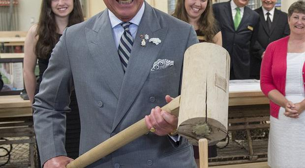 Charles, pictured at Holland College in Charlottetown, is said to have compared Vladimir Putin to Hitler in a remark to a Jewish museum volunteer