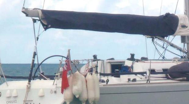The hull of the Cheeki Rafiki yacht has been found by the US Navy