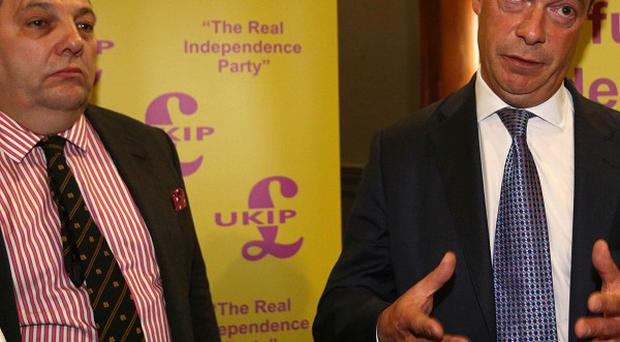Ukip leader Nigel Farage with new MEP David Coburn