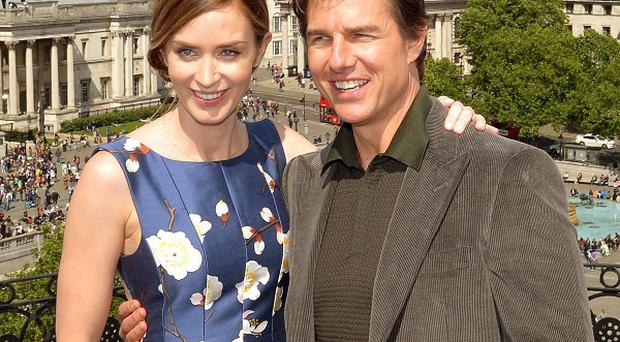 Emily Blunt and Tom Cruise star in Edge Of Tomorrow.
