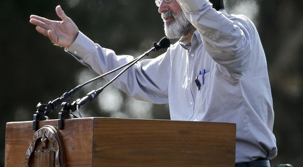 Richard Martinez talks about his son Christopher Michael-Martinez during a memorial service for the victims and families of Friday's rampage (AP)