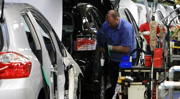 Car manufacturing figures are rising.