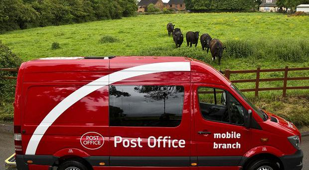 One of 40 new Post Office vehicles, part of the fleet of converted Mercedes Sprinters due to be rolled out as walk-in branches for rural customers
