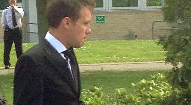 Andrew Meldrum leaving Woolwich Crown Court, London where he was handed a 12-month suspended sentence and a fine for spying on women after bugging their computers.