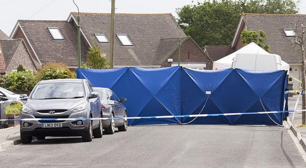 The scene at Verwood Crescent in Bournemouth, after the disappearance of nurse Rui Li