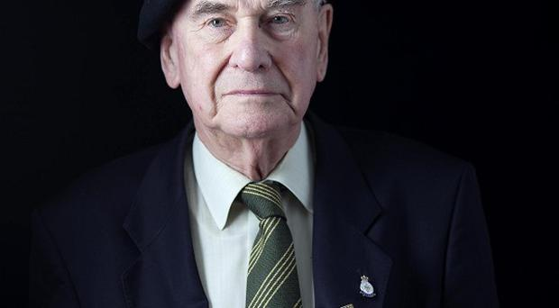 David Render, an 89-year-old veteran from Totteridge Village in north London, ahead of his trip to Normandy, which is funded by the Big Lottery Fund's Heroes Return scheme