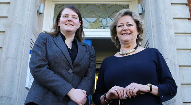 Suspended Youth Commissioner Kerry Boyd, left, with Kent Police and Crime Commissioner Ann Barnes