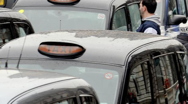 A thief stole a taxi then collected fares from unsuspecting passengers, police have revealed