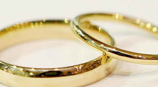 Statistics showed the first rise in religious weddings in three decades