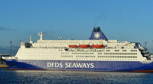 Boden George Hughes, 26, is charged with arson and affray after a fire broke out on a DFDS ferry