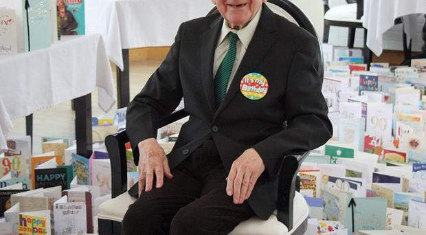 Normandy Veteran Bernard Jordan said he was overwhelmed by the number of cards and gifts he received for his 90th birthday (Arc Seven Communications/PA)