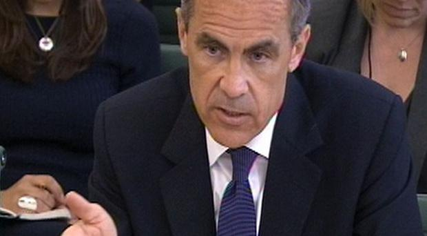 Governor of the Bank of England Mark Carney gives evidence to the Treasury Select Committee