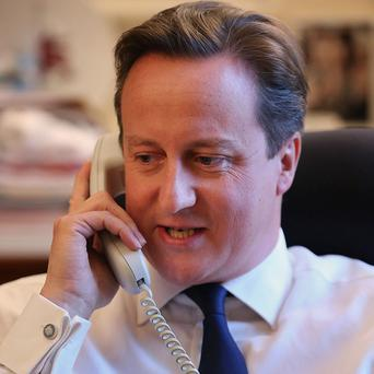 David Cameron and Barack Obama discussed Ukraine in a phone call