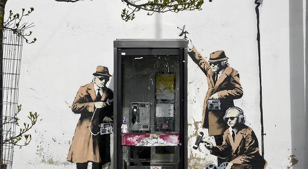 The Banksy mural in Cheltenham