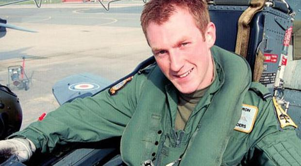 Flight Lieutenant Adam Sanders, 27, was among those killed in the crash in July 2012