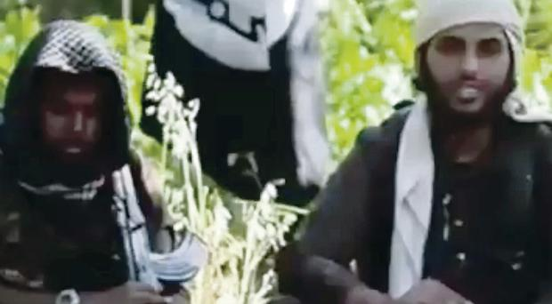 A video showing 'Islamist fighters' who claim to be British in an Isis recruitment video