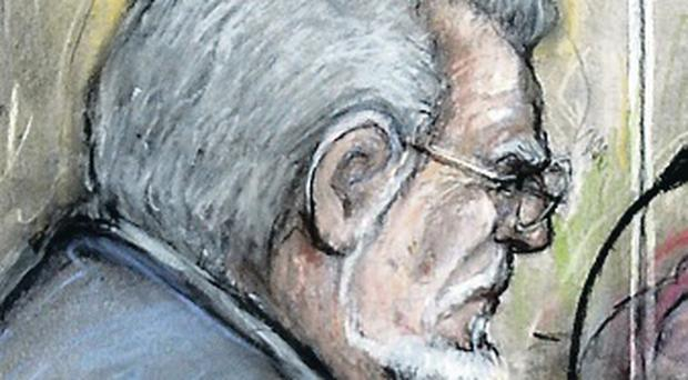 Guilty: Court drawing of Harris