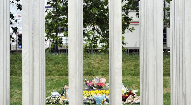 Messages were daubed on the July 7 memorial in London's Hyde Park
