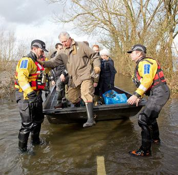 The Prince of Wales travelled to the flood-hit community of Muchelney earlier this year