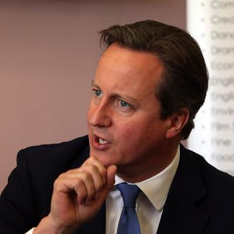 Prime Minister David Cameron is visiting the Farnborough air show