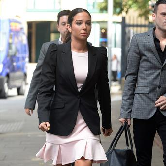 Tulisa Contostavlos arrives at Southwark Crown Court