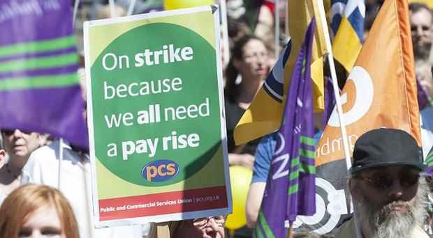Public sector workers took part in a one-day walkout last week