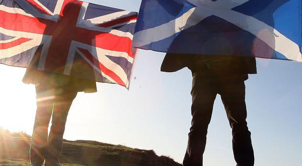 TNS found that among those who say they are certain to vote, 46 per cent back the Union, while 37 per cent support independence