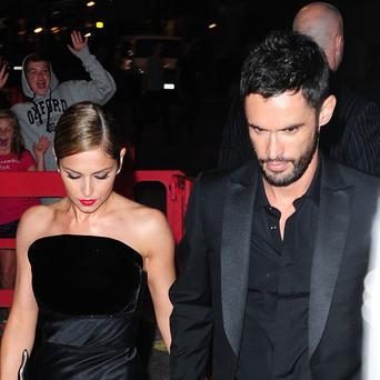 Cheryl Cole arrives with her husband Jean-Bernard Fernandez-Versini at a party at The Library in London