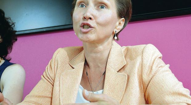 Marina Litvinenko yesterday, widow of murdered spy Alexander Litvinenko
