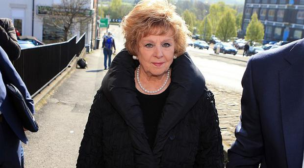 Barbara Knox with her solicitor Nick Freeman