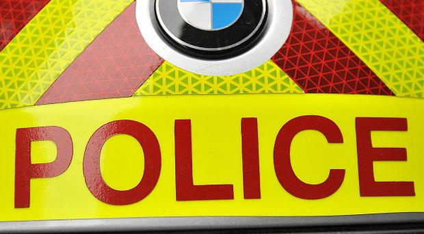 The car collided with a lorry near Polmont in Scotland