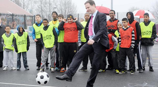 Nick Clegg said it was unthinkable at present that the 2018 World Cup could be held in Russia