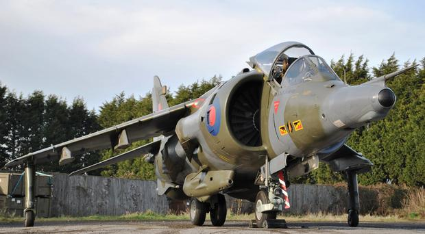 A 1976 Hawker Siddeley Harrier GR3 Jump Jet sold for 105,800 pounds at auction (PA/Silverstone Auctions)