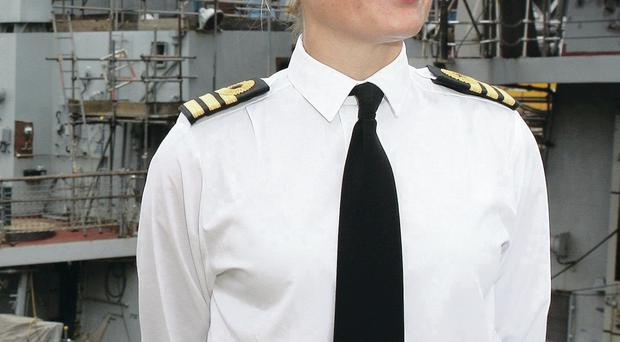 Commander Sarah West who has been accused of having an affair with a shipmate