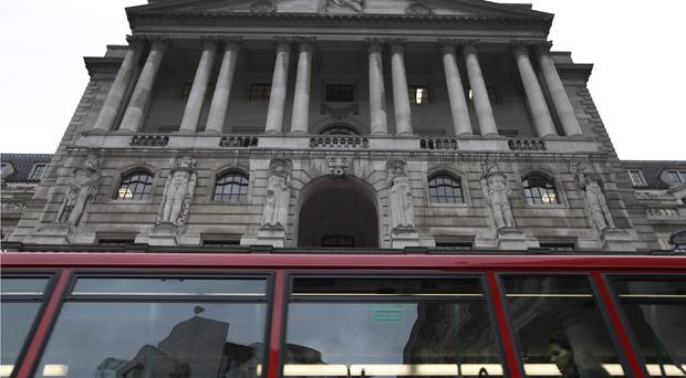The Bank of England, in London's City financial district.