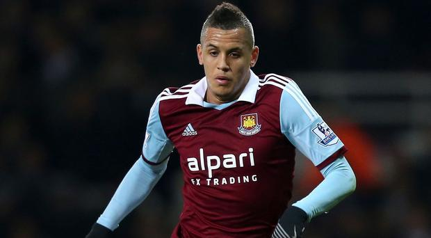 West Ham United's Ravel Morrison, who has been charged with assaulting two women