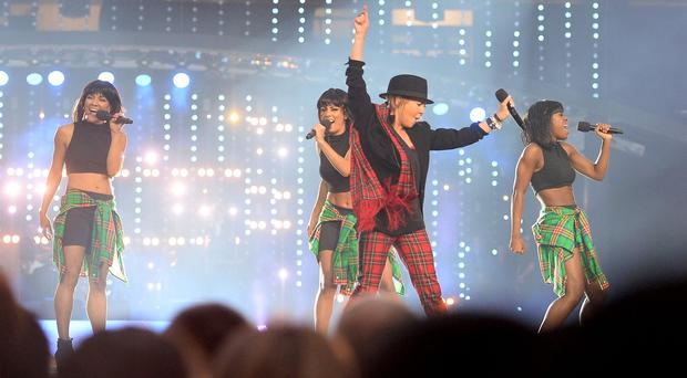 Lulu performs during the 2014 Commonwealth Games Closing Ceremony at Hampden Park, Glasgow
