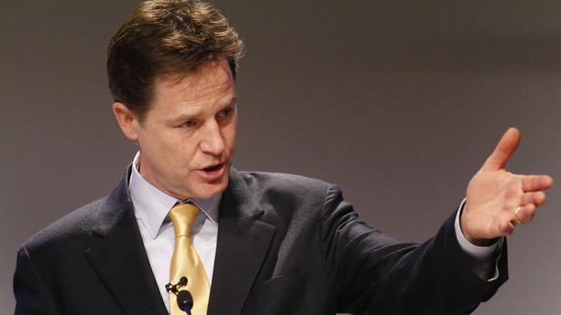 Nick Clegg said he demanded a pledge in the coalition agreement to reintroduce border exit checks