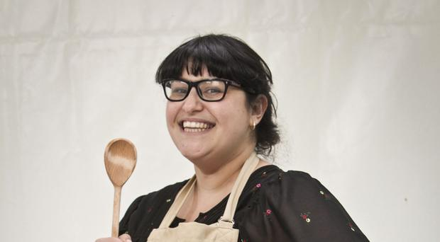 Claire Goodwin is the first contestant to leave the fifth series of The Great British Bake Off