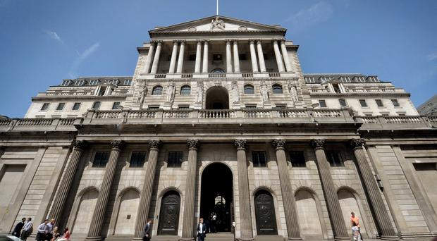 File photo dated 30/07/2014 of a general view of the Bank of England in London, as interest rates are expected to be held at 0.5\% this week, as Bank of England policy makers meet for the first time since figures showed the UK had emerged from its worst downturn since the war.