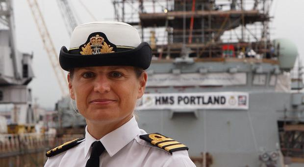 Commander Sarah West, the first female commander of a major Royal Navy warship, has been removed from her post