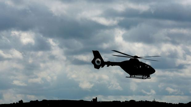The man was taken by air ambulance from Bute to the Southern General in Glasgow, but died on Sunday morning