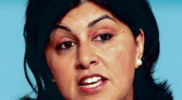 Vote warning: Baroness Warsi