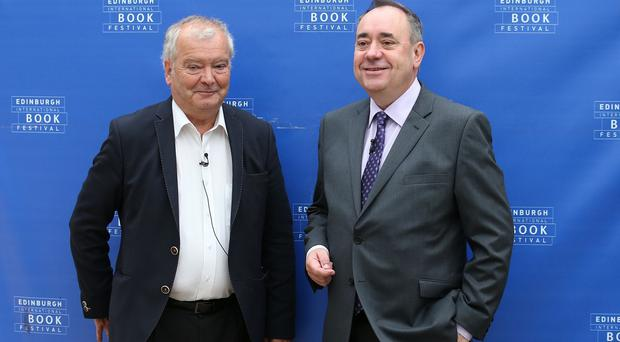 First Minister Alex Salmond (right) at the Edinburgh International Book Festival with Sir Tom Devine