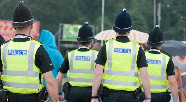 Emergency teams treated three people who took a blue tablet at V Festival, police said