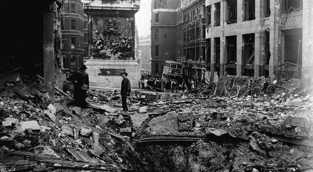 Rip the rescue dog searched for people buried in rubble after bombing raids during the Blitz