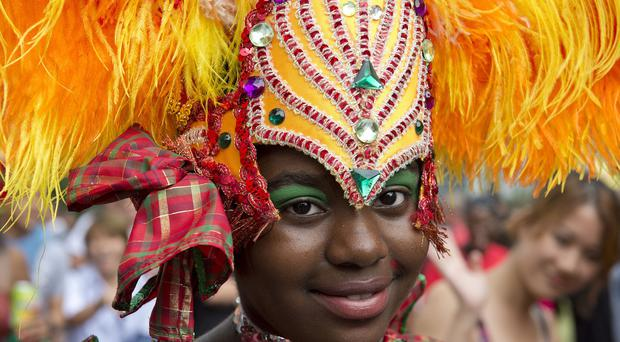 A participant in the Notting Hill Carnival family day