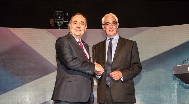 Alex Salmond and Alistair Darling are leading respectively the Yes and No campaigns