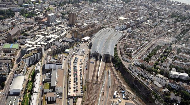 A view of Brighton Station in East Sussex which will form part of the Thameslink rail project