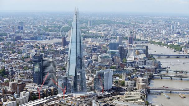 The luxury Shangri-La Hotel in The Shard skyscraper in central London opening a year late